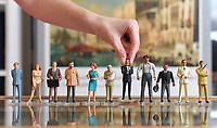 """BNPS.co.uk (01202 558833)<br /> Pic: ZacharyCulpin/BNPS<br /> <br /> Pictured: The Corgi Icon Figures that feature in the sought-after Bond sale. From left, Dr No, Honey Rider, Q, Drax, Moneypenny, Blofeld, Sean Connery as 007, Jaws, Odd Job, Scaramanga, a safari suited Roger Moore.<br /> <br /> An exact replica of the secret weapons case used by Sean Connery's 007 in From Russia With Love has emerged for sale for £14,000. <br /> <br /> The black attache case is one of only 100 models ever produced and has been described by experts as the """"holy grail"""" of James Bond memorabilia. <br /> <br /> The replica is to be sold alongside dozens of sought-after Bond items, including a set of 21 hand painted Corgi model figures, at Ewbank's Auctions of Woking, Surrey."""