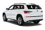 Car pictures of rear three quarter view of 2019 Skoda Kodiaq Sportline 5 Door SUV Angular Rear