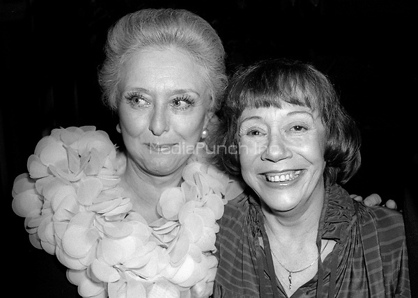Celeste Holm and Imogene Coca 1978<br /> Photo By Adam Scull/PHOTOlink /MediaPunch
