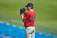 Fran Oschell (55) of Malvern Prep School in Phoenixville, PA playing for the Boston Red Sox scout team during the East Coast Pro Showcase at the Hoover Met Complex on August 5, 2020 in Hoover, AL. (Brian Westerholt/Four Seam Images)
