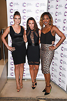 Liberty X (Jessica Pietersen, Michelle Heaton and Kelli Young)<br /> arriving at James Ingham's Jog On To Cancer, in aid of Cancer Research UK at The Roof Gardens in Kensington, London. <br /> <br /> <br /> ©Ash Knotek  D3248  12/04/2017