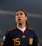 25.06.2010, Loftus Versfeld Stadium, Tshwane Pretoria, RSA, FIFA WM 2010, Chile (CHI) vs Spain (ESP)., im Bild Sergio Ramos of Spain. EXPA Pictures © 2010, PhotoCredit: EXPA/ IPS/ Marc Atkins