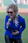 Whitney Myer performs the National Anthem before the Reno Aces against the Sacramento River Cats game played on Friday night, April 12, 2013 in Reno, Nevada.