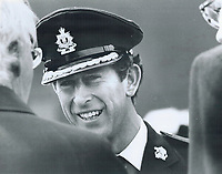 1979 FILE PHOTO - ARCHIVES -<br /> <br /> Royal Tours - Prince Charles (Canada 1979) Toronto<br /> Bezant, Graham<br /> Picture, 1979<br /> <br /> 1979,<br /> <br /> PHOTO : Graham Bezant - Toronto Star Archives - AQP