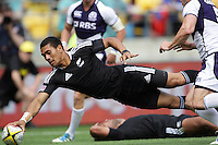 Ardie Savea scores for NZ against Scotland during the Hertz IRB Wellington Sevens - Day One at Westpac Stadium, Wellington, New Zealand on Friday, 3 February 2012. Photo: Dave Lintott / lintottphoto.co.nz