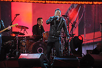 NEW YORK, NY - DECEMBER 01: Former US President Bill Clinton welcomes, musicians The Edge of U2, Larry Mullen Jr. of U2, Adam Clayton of U2, Bruce Springsteen, Carrie Underwood, Chris Martin of Cold Play and Kanye West perform for World AIDS Day (RED) Concert at Times Square on December 1, 2014 in New York City<br /> <br /> <br /> People:  Bruce Springsteen<br /> <br /> Transmission Ref:  MNC1<br /> <br /> Must call if interested<br /> Michael Storms<br /> Storms Media Group Inc.<br /> 305-632-3400 - Cell<br /> 305-513-5783 - Fax<br /> MikeStorm@aol.com
