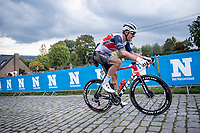 crash victim Jasper Stuyven (BEL/Trek-Segafredo) up the Paterberg<br /> <br /> 104th Ronde van Vlaanderen 2020 (1.UWT)<br /> 1 day race from Antwerpen to Oudenaarde (BEL/243km) <br /> <br /> ©kramon