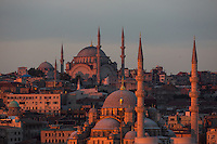 Sunrise over the rooftops of Istanbul