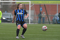 Jody Vangheluwe (22) of Club Brugge  pictured during a female soccer game between SV Zulte - Waregem and Club Brugge YLA on the 13 th matchday of the 2020 - 2021 season of Belgian Scooore Womens Super League , saturday 6 th of February 2021  in Zulte , Belgium . PHOTO SPORTPIX.BE   SPP   DIRK VUYLSTEKE