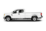 Car Driver side profile view of a 2017 Ford F-250 XLT-SuperCab 4 Door Pickup Side View