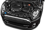 Car Stock 2015 MINI MINI Cooper 3 Door Hatchback Engine high angle detail view