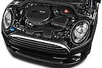 Car Stock 2015 MINI MINI Cooper 3 Door Hatchback Engine high angle detail view
