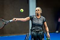 Alphen aan den Rijn, Netherlands, December 18, 2019, TV Nieuwe Sloot,  NK Tennis, Wheelchair womans doubles: Maaike Derks-Snellenberg (NED) <br /> Photo: www.tennisimages.com/Henk Koster