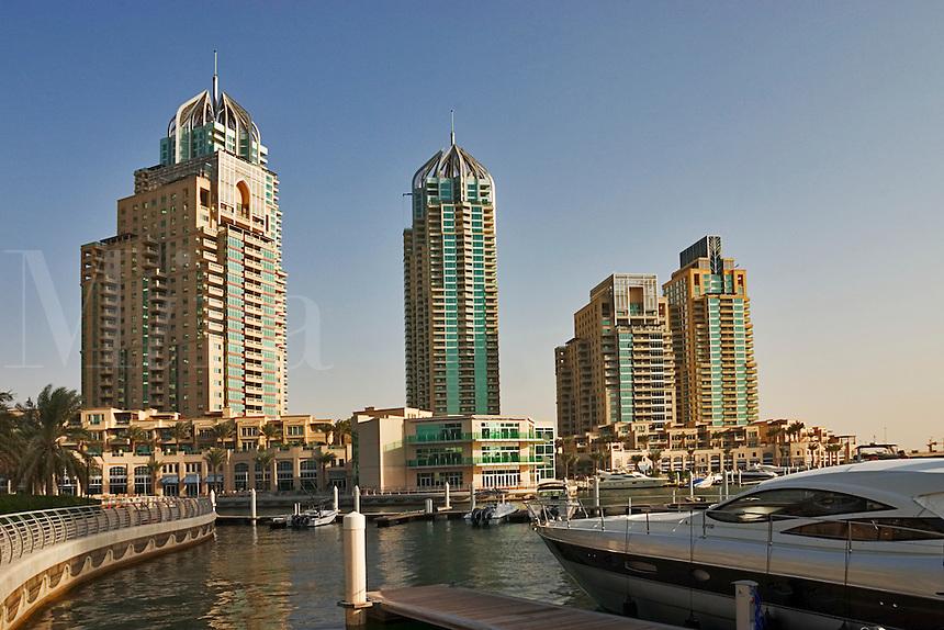 Dubai, United Arab Emirates. Dubai Marina. New luxurious residential and commercial development..