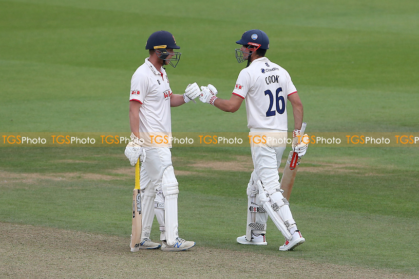Tom Westley and Sir Alastair Cook of Essex enjoy a useful partnership during Surrey CCC vs Essex CCC, LV Insurance County Championship Division 2 Cricket at the Kia Oval on 12th September 2021