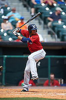 Columbus Clippers shortstop Erik Gonzalez (2) at bat during a game against the Buffalo Bisons on July 19, 2015 at Coca-Cola Field in Buffalo, New York.  Buffalo defeated Columbus 4-3 in twelve innings.  (Mike Janes/Four Seam Images)