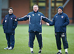 Ally McCoist and Kenny McDowall tell the players to have a right good look at themselves as Fran Sandaza gets the hop on them and beats them all in a sprint