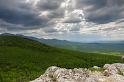 Cloud cover from the Nubble (Haystack Mountain) in Bethlehem, New Hampshire USA on a cloudy spring day.