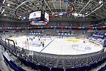Die SAP Arena ohne Zuschauer beim Spiel des MAGENTA SPORT CUP 2020, Adler Mannheim (blau) - EHC Red Bull Muenchen (weiss).<br /> <br /> Foto © PIX-Sportfotos *** Foto ist honorarpflichtig! *** Auf Anfrage in hoeherer Qualitaet/Aufloesung. Belegexemplar erbeten. Veroeffentlichung ausschliesslich fuer journalistisch-publizistische Zwecke. For editorial use only.