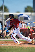 Hite Merrifield during the WWBA World Championship at the Roger Dean Complex on October 20, 2018 in Jupiter, Florida.  Hite Merrifield is an outfielder from Advance, North Carolina who attends Davie County High School and is committed to Wake Forest.  (Mike Janes/Four Seam Images)