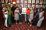Melissa Benoist with the cast of 'Beautiful - The Carole King Musical' during her Sardi's portrait unveiling at Sardi's on July 31, 2018 in New York City.