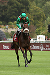 09-11-11 : coming back from the track champion Sarafina (winner) with jockey Christophe-Patrice Lemaire