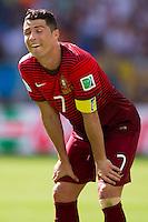 Cristiano Ronaldo of Portugal pulls a funny face
