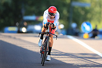 9th September 2021; Trento, Trentino–Alto Adige, Italy: 2021 UEC Road European Cycling Championships, Mens Individual time trials: OVECHKIN Artem (RUS)