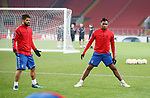 07.11.18 Rangers training at the Spartak Stadium, Moscow: Daniel Candeias and Alfredo Morelos