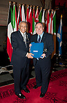 First Minister Alex Salmond, First Minister of Scotland presents His Excellency Mr.Khaled Al-Duwaisan GCVO (Embassy of State of Kuwait) and Dean of the Arab Corps of Ambassadors with a gift following the dinner and reception held at Edinburgh Castle this evening..Pic Kenny Smith, Kenny Smith Photography.6 Bluebell Grove, Kelty, Fife, KY4 0GX .Tel 07809 450119,