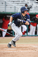 Pittsburgh Panthers infielder Dylan Wolsonovich (2) during game against the St. John's Redstorm at Jack Kaiser Stadium on March 22, 2013 in Queens, New York.  Pittsburgh defeated St. John's 12-9.  (AP Photo/Tomasso DeRosa)