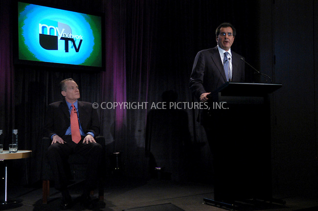WWW.ACEPIXS.COM . . . . . ....NEW YORK, FEBRUARY 22, 2006....Peter Chernin and Jack Abernathy at a press conference for the launch of Fox's 'My Network TV' held at the W Hotel.....Please byline: KRISTIN CALLAHAN - ACEPIXS.COM.. . . . . . ..Ace Pictures, Inc:  ..Philip Vaughan (212) 243-8787 or (646) 679 0430..e-mail: info@acepixs.com..web: http://www.acepixs.com