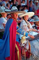 Ornately attired rider at the Charros Rodeo Fiesta Event. San Antonio, Texas.