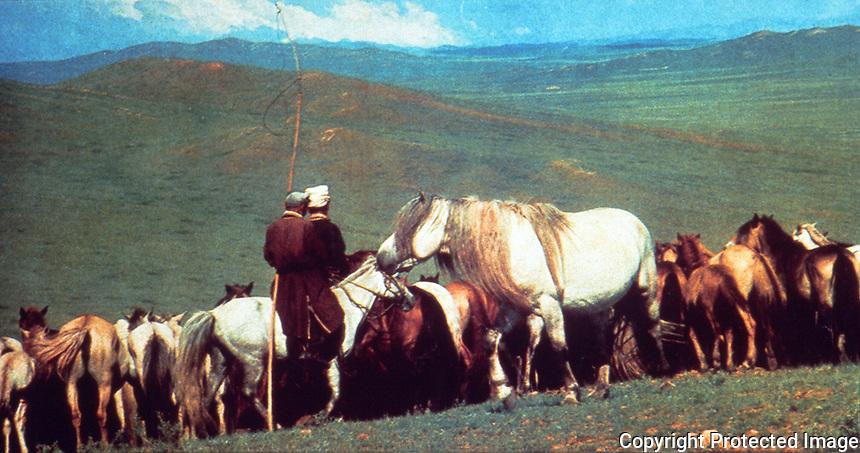 World Civilization:  Central Asia--Mongol Herdsmen.  Photo '91.