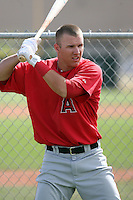 Mike Trout #94 of the Los Angeles Angels plays in a minor league spring training game against the Colorado Rockies at the Angels minor league complex on March 18, 2011  in Tempe, Arizona. .Photo by:  Bill Mitchell/Four Seam Images.