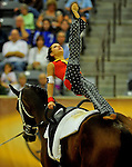 8 October 2010: Maria Bondar (RUS) peforms during the Vaulting Techincals in the World Equestrian Games in Lexington, Kentucky