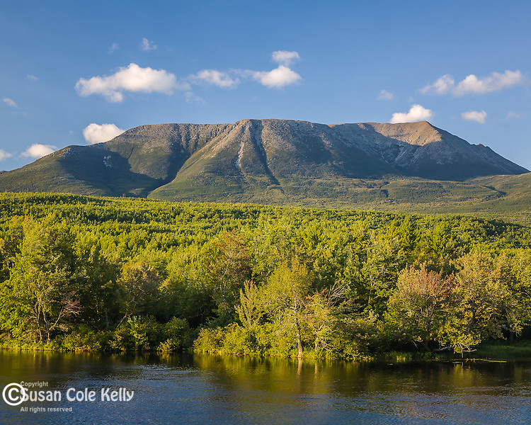 Mt Katahdin towers over the Penobscot River, Piscataquis County, ME