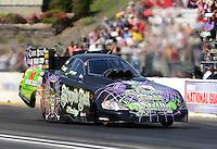 May 19, 2012; Topeka, KS, USA: NHRA funny car driver Bob Bode during qualifying for the Summer Nationals at Heartland Park Topeka. Mandatory Credit: Mark J. Rebilas-