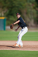 John Turner (67) of Wake Village, Texas during the Baseball Factory Pirate City Christmas Camp & Tournament on December 28, 2018 at Pirate City in Bradenton, Florida. (Mike Janes/Four Seam Images)