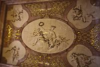 Europe/Autriche/Niederösterreich/Vienne: La Mozarthaus: La Maison Mozart - Figarohaus - au  5 de la Domgasse - détail du plafond