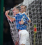 Lewis Macleod celebrates with Kenny Miller after scoring the second goal for Rangers