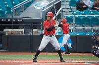 Brian Leonhardt (21) of the San Diego State Aztecs at bat against the UNCG Spartans at Springs Brooks Stadium on February 16, 2020 in Conway, South Carolina. The Spartans defeated the Aztecs 11-4.  (Brian Westerholt/Four Seam Images)