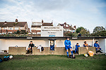 Harwich & Parkeston 2 Barnston 0, 11/11/2017. Royal Oak Ground, Andreas Carter Essex & Suffolk Border League Premier Division. Harwich & Parkeston reached the final of the Amateur Cup in 1953 at Wembley Stadium and played in front of a crowd of 100,000. <br /> The home and away dugouts Royal Oak Ground. Photo by Simon Gill.