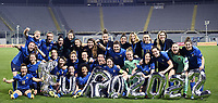 Italian players celebrate the qualification during the Women s EURO 2022 qualifying football match between Italy and Israel at stadio Carlo Castellani in Empoli (Italy), February, 24th, 2021. Photo Image Sport / Insidefoto