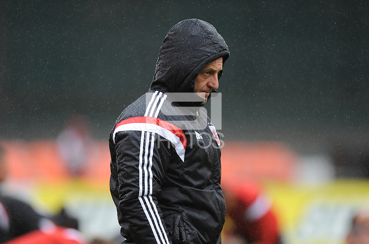 Washington, D.C.- March 29, 2014. Enzo Concina D.C. United Assistant Coach.  The Chicago Fire tied D.C. United 2-2 during a Major League Soccer Match for the 2014 season at RFK Stadium.