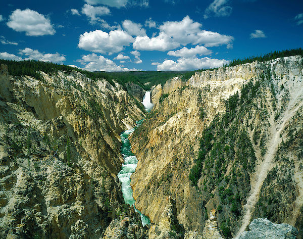 Yellowstone Falls in Yellowstone National Park, Montana, .  John leads private photo tours throughout Colorado. Year-round Colorado photo tours. John offers private photo tours in Glacier National Park and throughout Montana and Colorado. Year-round.