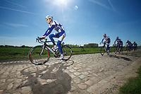 Team Topsport Vlaanderen-Baloise Roubaix recon<br /> <br /> 2014 Paris - Roubaix reconnaissance
