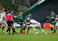 4th October 2020; Twickenham Stoop, London, England; Gallagher Premiership Rugby, London Irish versus Bristol Bears; Ben Loader of London Irish is tackled by Jake Heenan of Bristol Bears