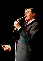 Montreal (Qc) CANADA - circa 1987 File Photo -<br /> <br /> Jerry Lewis perform at Place-des-Arts, Montreal.<br /> <br /> Jerry Lewis (born March 16, 1926)[1] is an American comedian, award-winning actor, film producer, writer and director, known for his slapstick humor and his charity fund-raising telethons for the Muscular Dystrophy Association (MDA). Lewis has won several awards for lifetime achievements from The American Comedy Awards, The Golden Camera, Los Angeles Film Critics Association, The Venice Film Festival and he has two stars on the Hollywood Walk of Fame. In 2005, he received the Governors Award of the Academy of Television Arts & Sciences Board of Governors, the highest Emmy Award presented.[2]<br /> <br /> Lewis was originally paired up in 1946 with Dean Martin, and formed the comedy team of Martin and Lewis. In addition to the team's popular nightclub work, they starred in a successful series of comedy films for Paramount. The act broke up ten years later.<br /> <br /> -Photo (c)  Images Distribution