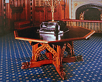 Prince's Table designed by Augustus Pugin. House of Parliament, 1847.<br /> London.